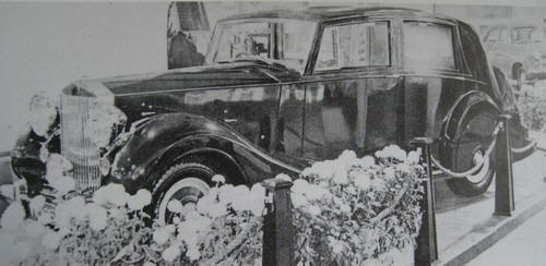 1951 Rolls Royce Silver Wraith WOF1 black and white image