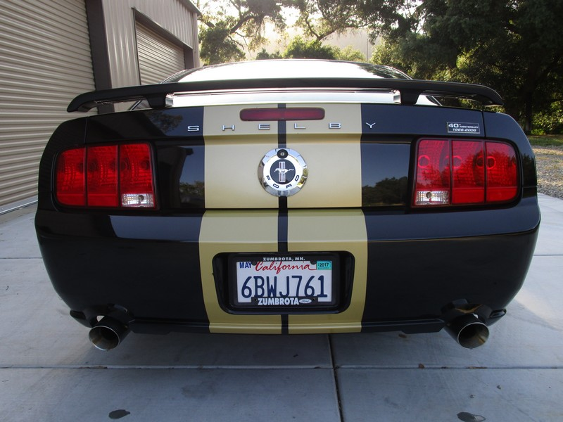 Rear View of 2006 Ford Mustang Shelby GT-H