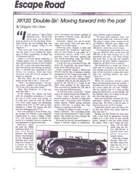 Article about the XK120 double six.